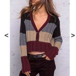 Wooden Ships Cropped Button Front Cardigan M/L